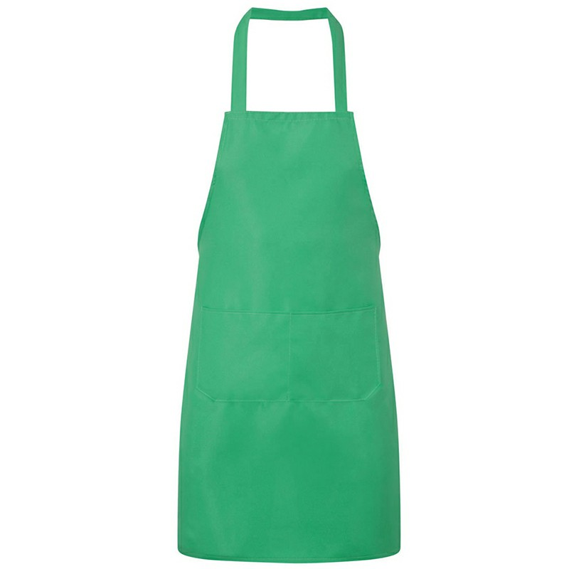 Bistro Plain Half Wrist Aprons with Twin Double Pockets - Green