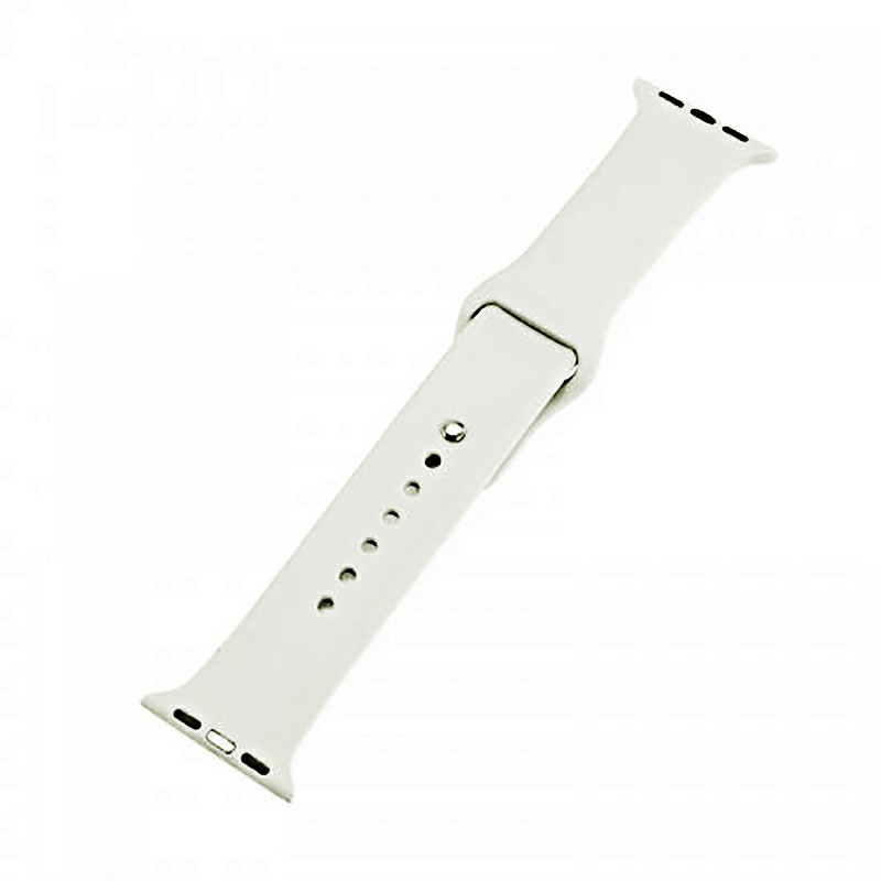 Soft Sillicone Rubber Watchband for Apple iWatch 38mm - Antique White