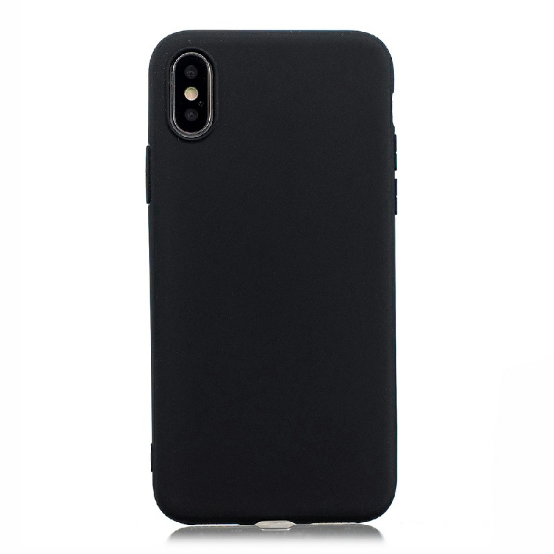 TPU Shockproof Back Cover for iPhone X/XS - Black