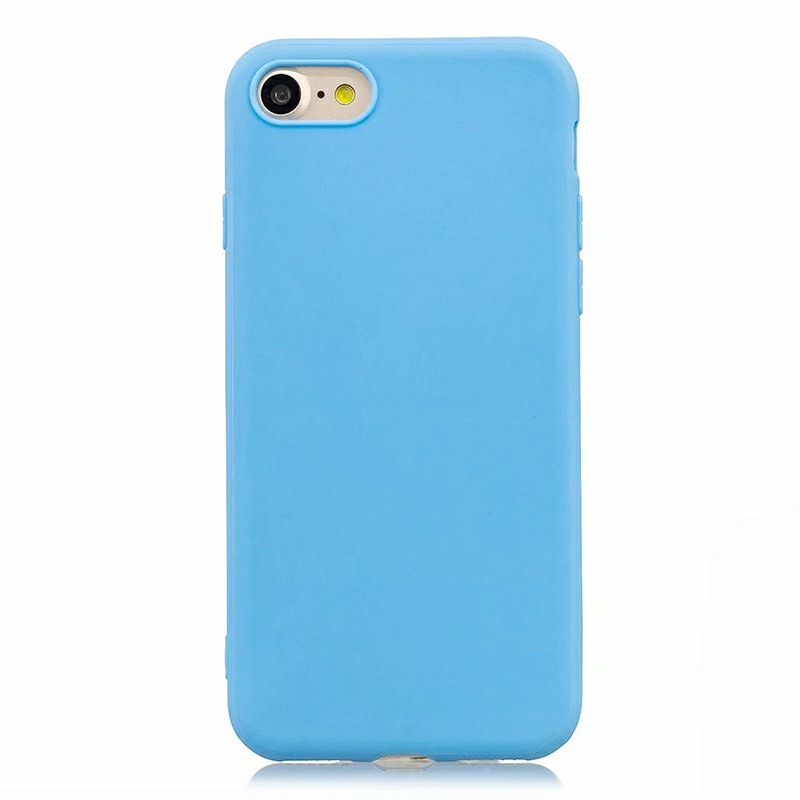 Slim TPU Back Cover Case for iPhone 7/8 - Blue