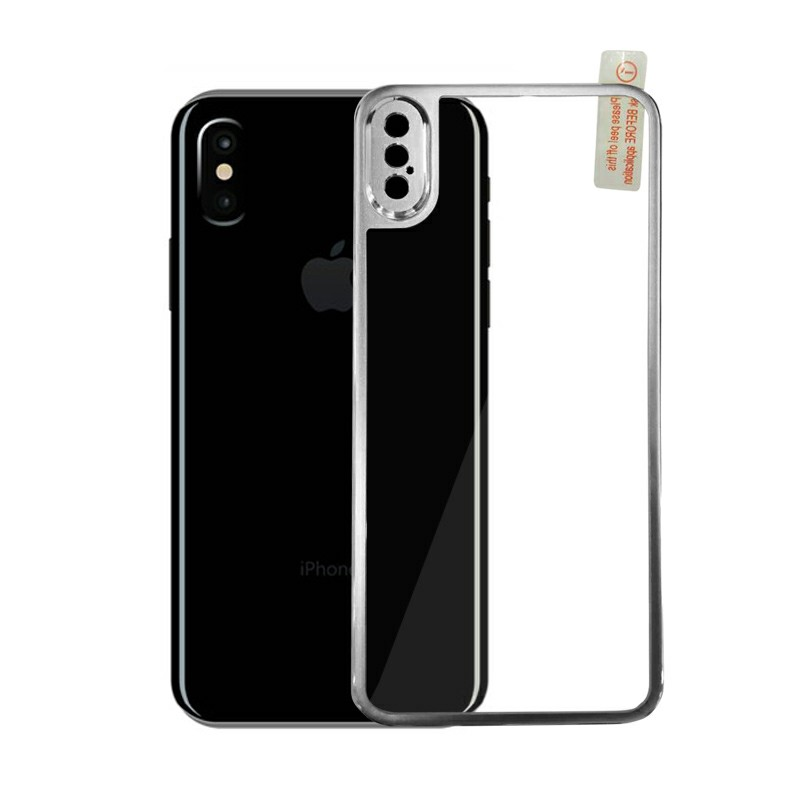 Shockproof Tempered Glass Protector for iPhone X/XS - Silver