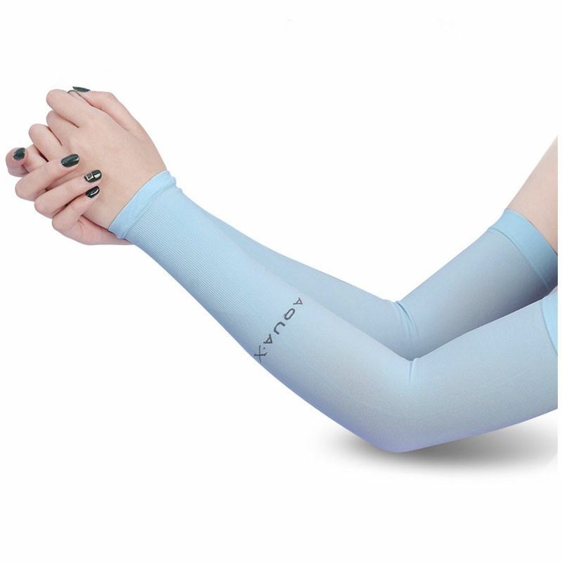 1 Pair Cooling UV Sun Protection Arm Sleeves - Blue