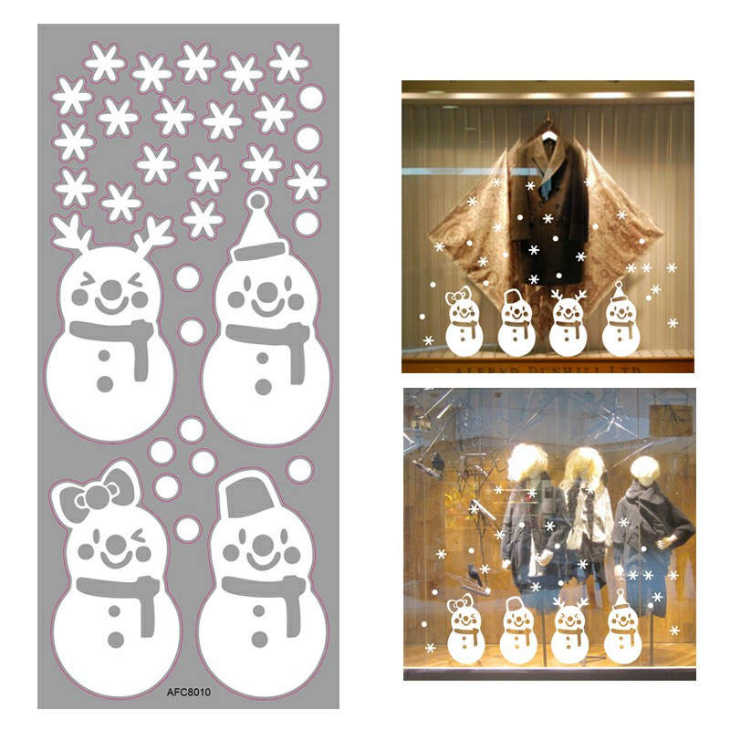 Christmas 3D Removable Window Wall Stickers - AFC8010