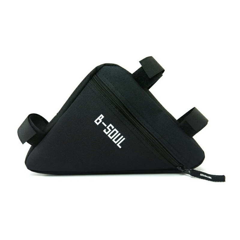 Waterproof Triangle Bicycle Pouch Bag - Black