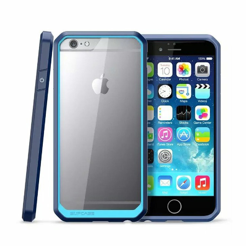 Fashion Blossom Flower PU Leather Stand Case for iPhone 6 4.7 - Blue