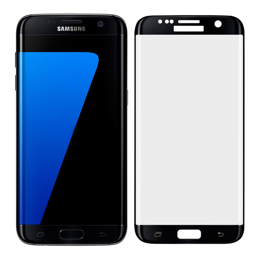 Tempered Glass Screen Protector for Samsung Galaxy S7 Edge - Black
