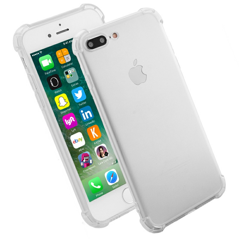 Shockproof Protective Phone Case for iPhone 7 Plus - Transparent