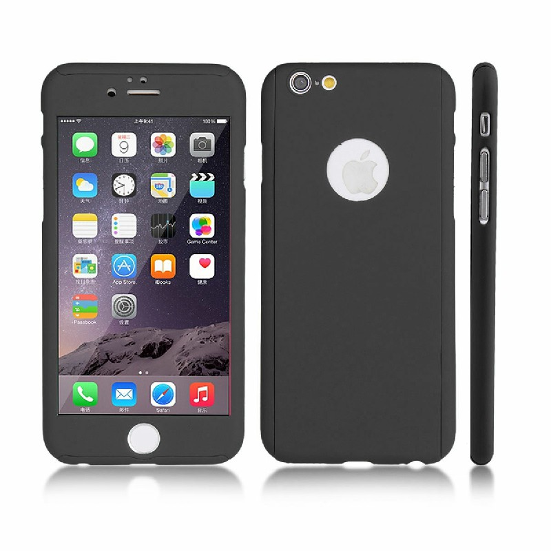 360 Degree Tempered Glass for iPhone 6 Plus - Black