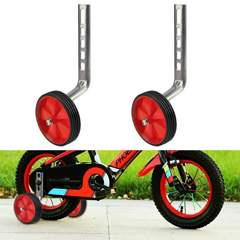 1 Pair Universal 12-20 inch ren Bike Training Wheels - Red