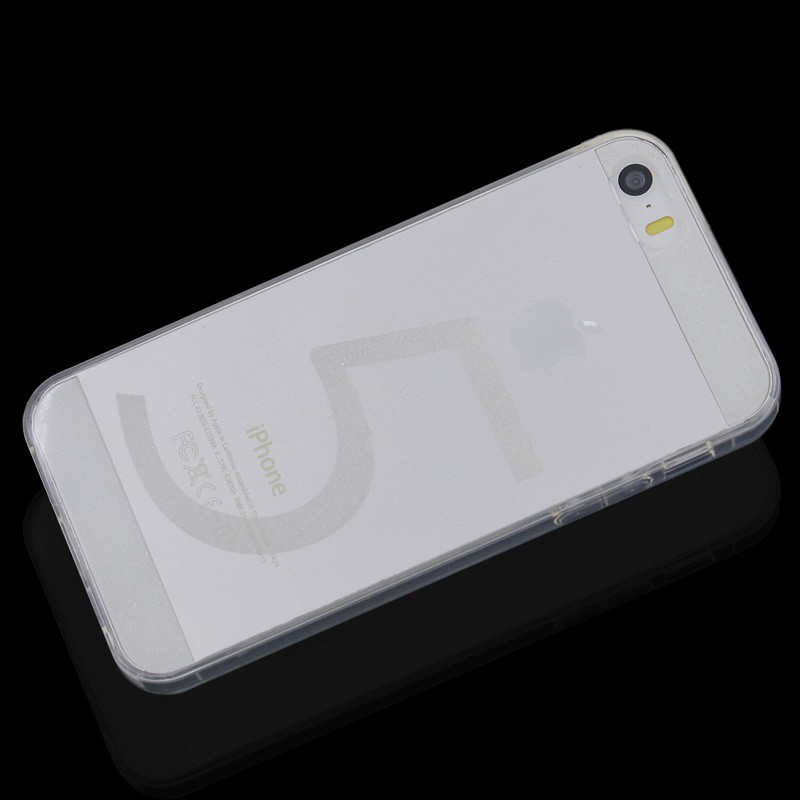 Transparent TPU Back Cover for iPhone 5/5S - Transparent