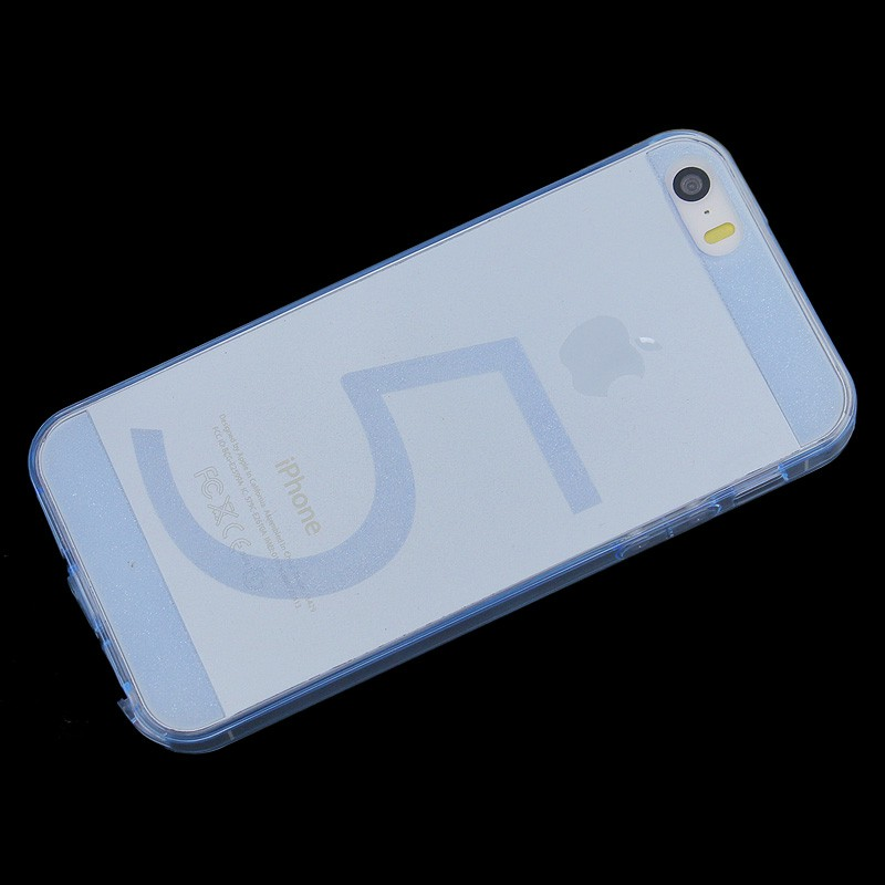 Transparent TPU Back Cover for iPhone 5/5S - Blue