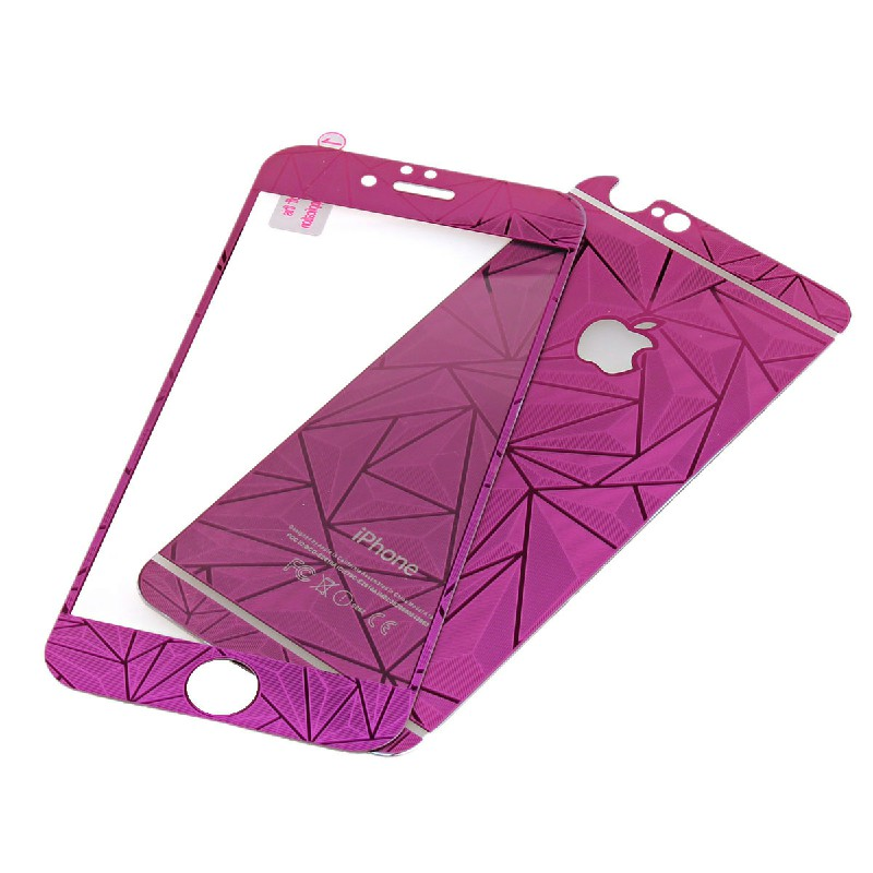 Front + Back Tempered Glass Screen Protector for iPhone 6 4.7 inch - Purple