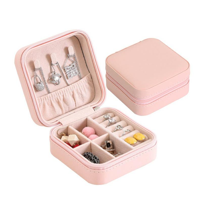 PU Leather Jewelry Box - Pink