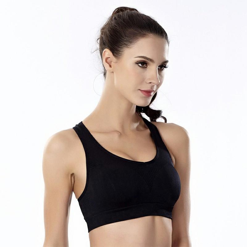 Sports Women Underwear Push Up Bra Padded Bra Black - M