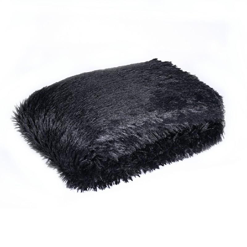 90x160cm Warm Shaggy Rugs - Black