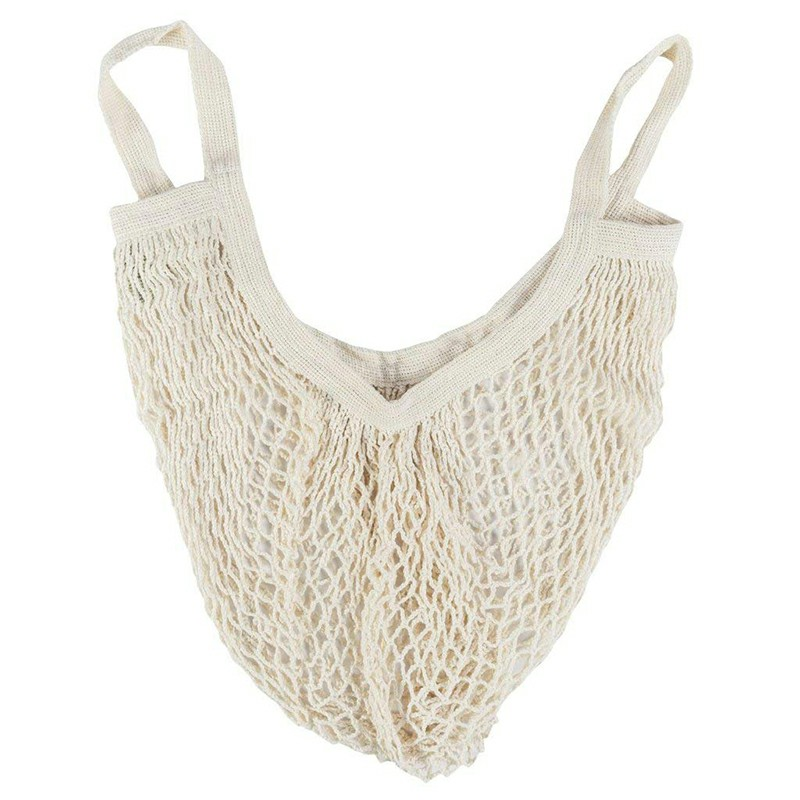 Reusable Mesh Net Turtle Bag - White