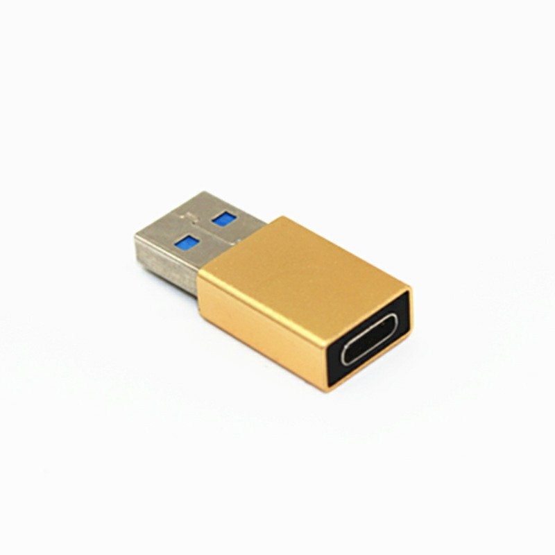 USB-C Female to USB-A Male Adapter - Gold