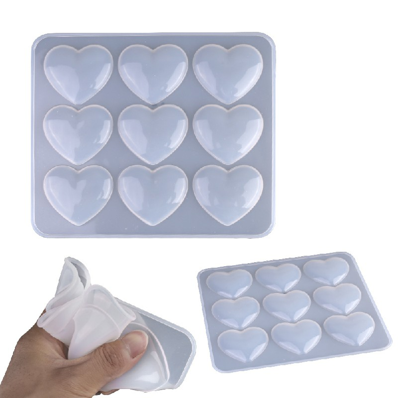 Heart Silicone Necklace Jewelry Resin Mould