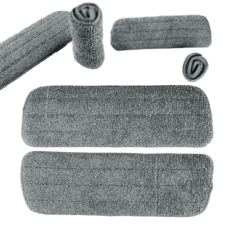 3 pcs Microfibre Replacement Refill Heads - Grey