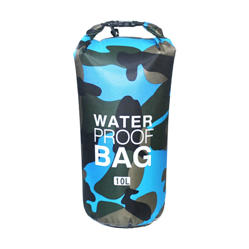 10L Camouflage PVC Waterproof Dry Bag - Light Blue