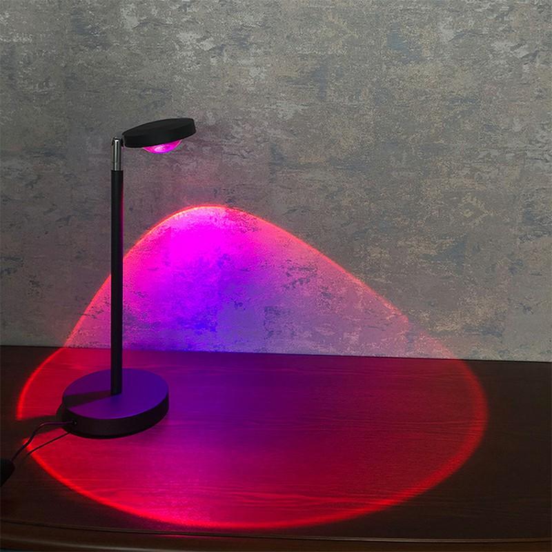 LED USB Light Projection Desk Lamp - Rainbow