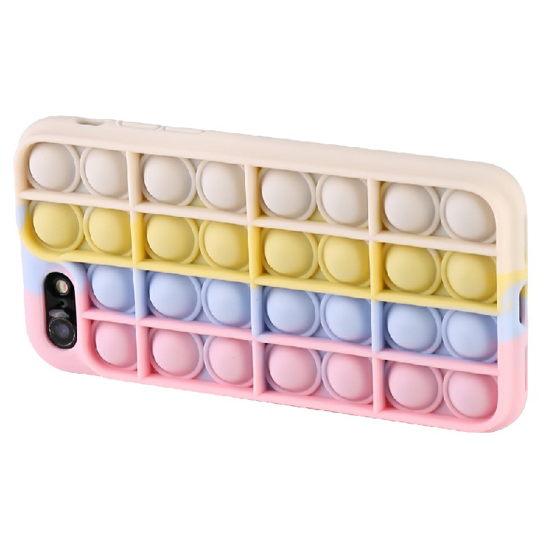3D Fidget Rainbow Soft Silicone Case for iPhone 7/8