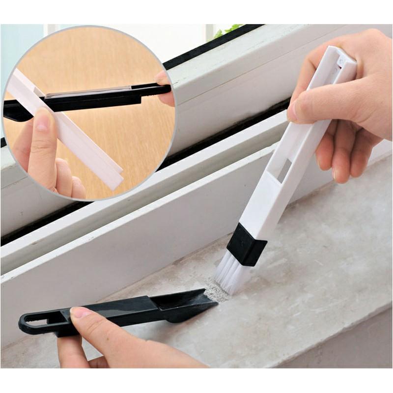 Household Dust Brush for Sliding Door Vents Keyboard - Black