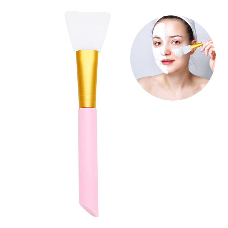 Face Care Soft Silicone Foundation Painting Mask Brush - Pink