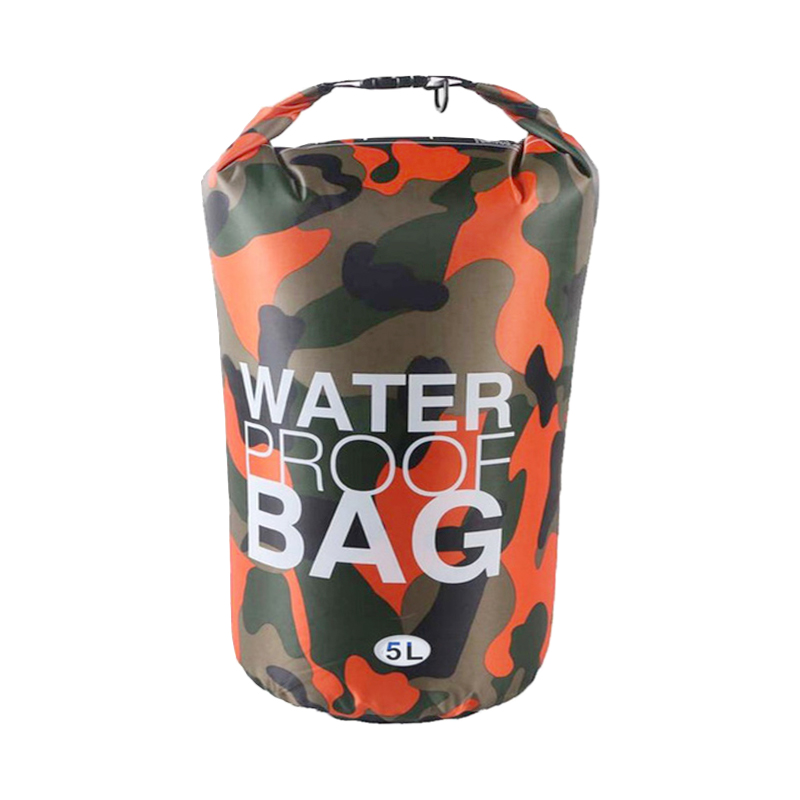 5L Waterproof Dry Bag Ultralight Camouflage Outdoor Pouch Organizer - Orange