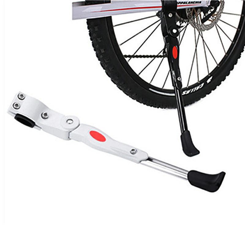 Adjustable Bike Heavy Duty Prop Side Rear Kick Stand - White
