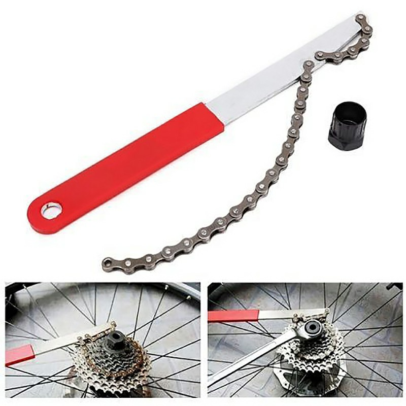Deluxe Freewheel Bike Chain Whip Cycle Cassette Cog Remover Tool