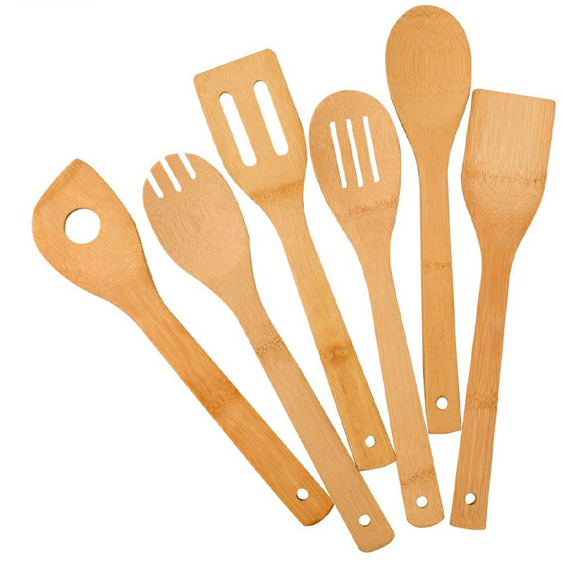 6 pcs Bamboo Wooden Spoons