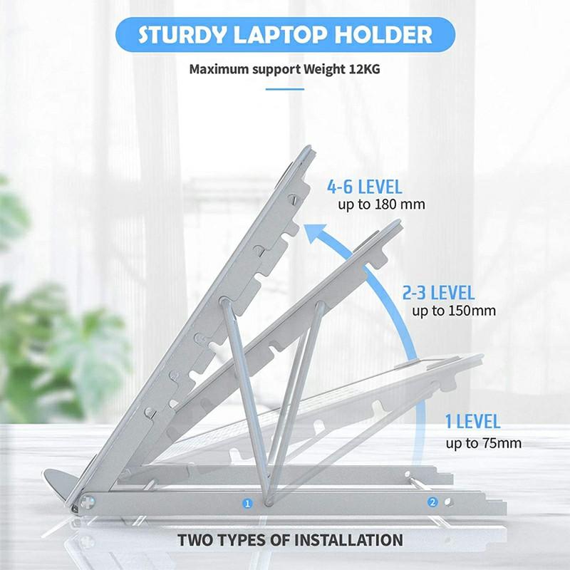 Adjustable Laptop Stand - Grey