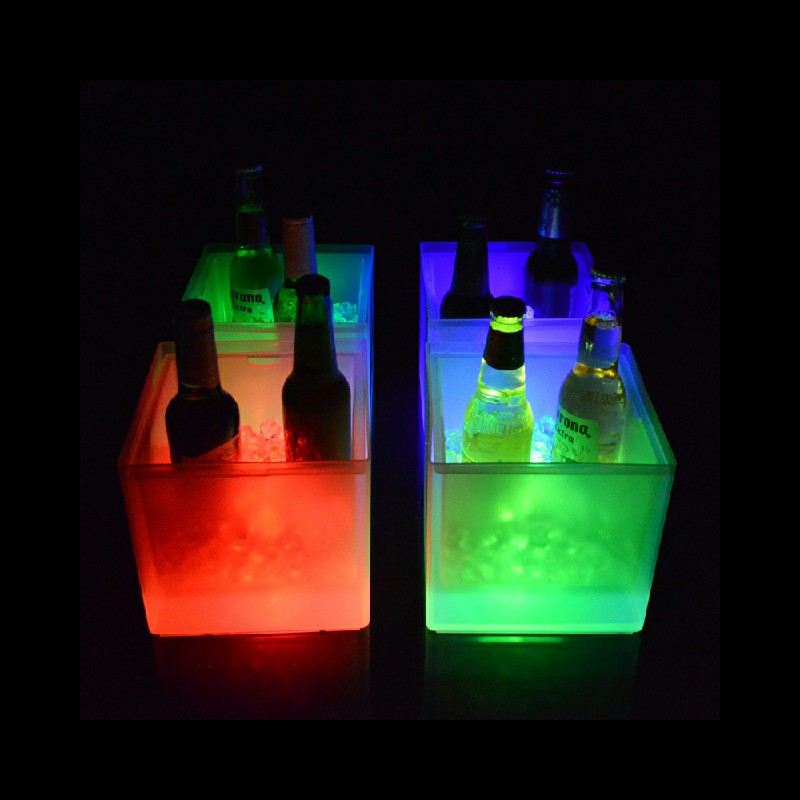 35L LED Colour Changing Ice Bucket Champagne Wine Drinks Cooler