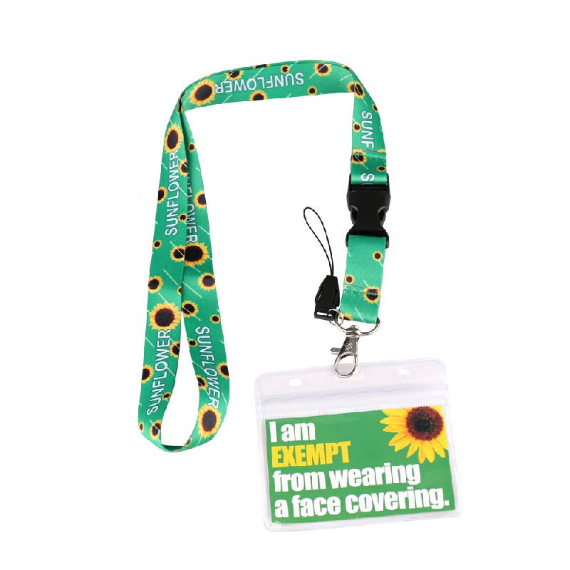 PVC Card with Sunflower Lanyard