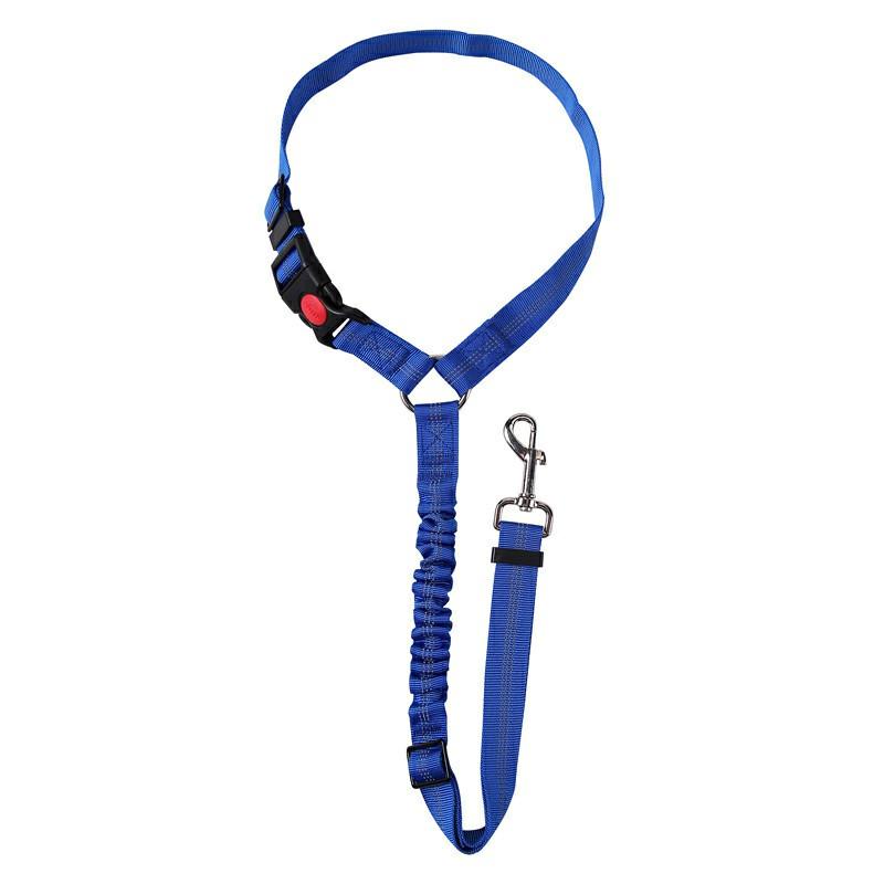 Anti Shock Pet Dog Car Seat Belt - Blue