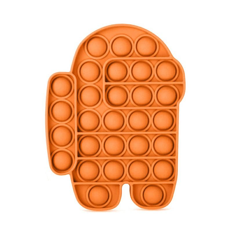 Pop it Fidget Board Among Us Pop it Easy Carry and Fun - Orange