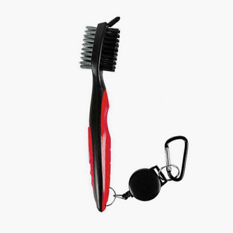 Golf Club Cleaning Tool Groove Brush - Red