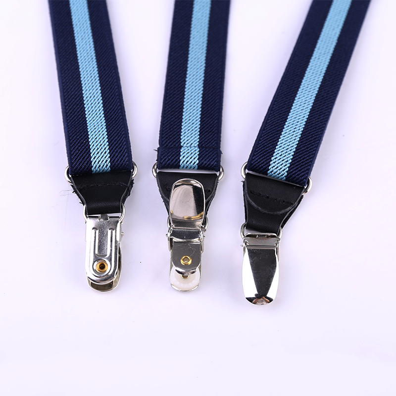25mm Wide Unisex Heavy Duty Trousers Suspenders Adjustable - Black D05