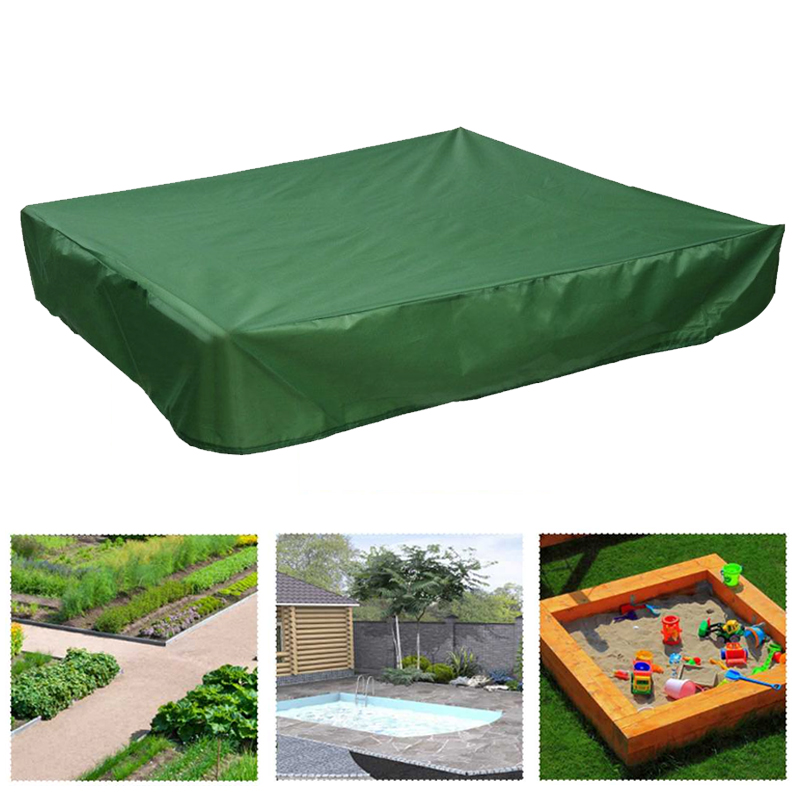Oxford Waterproof Bench Seat Sand Box Cover - Green