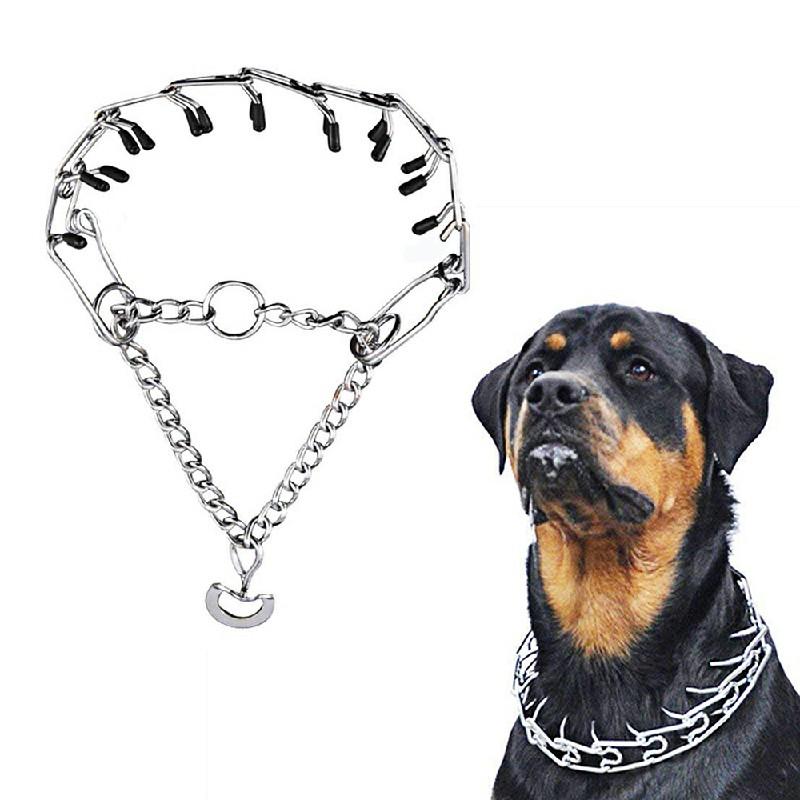 Dog Metal Steel Adjustable Training Choke Spike Collar - 4mmx60cm