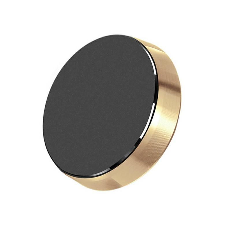 Universal Magnetic Metal Car Dashboard Mount - Gold