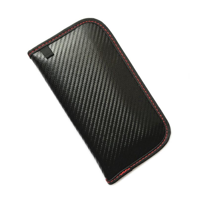 Carbon Fiber Signal Blocker Case for Cellphone Car Remote