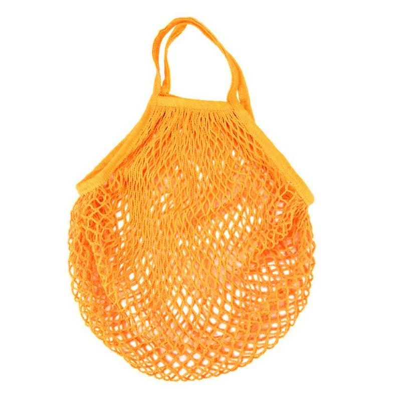 Reusable Mesh Net Turtle Bag - Orange