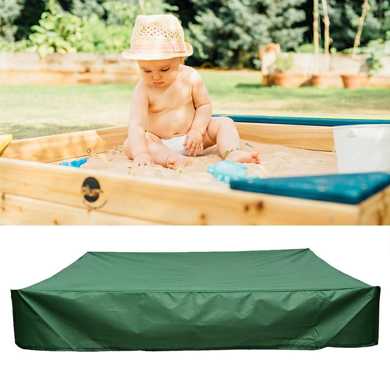 Bench Seat Sand Box Cover 150x150x20cm - Green