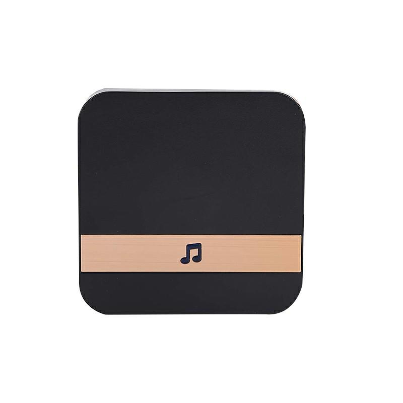 Smart Wireless Sensor Doorbell Chime - Black