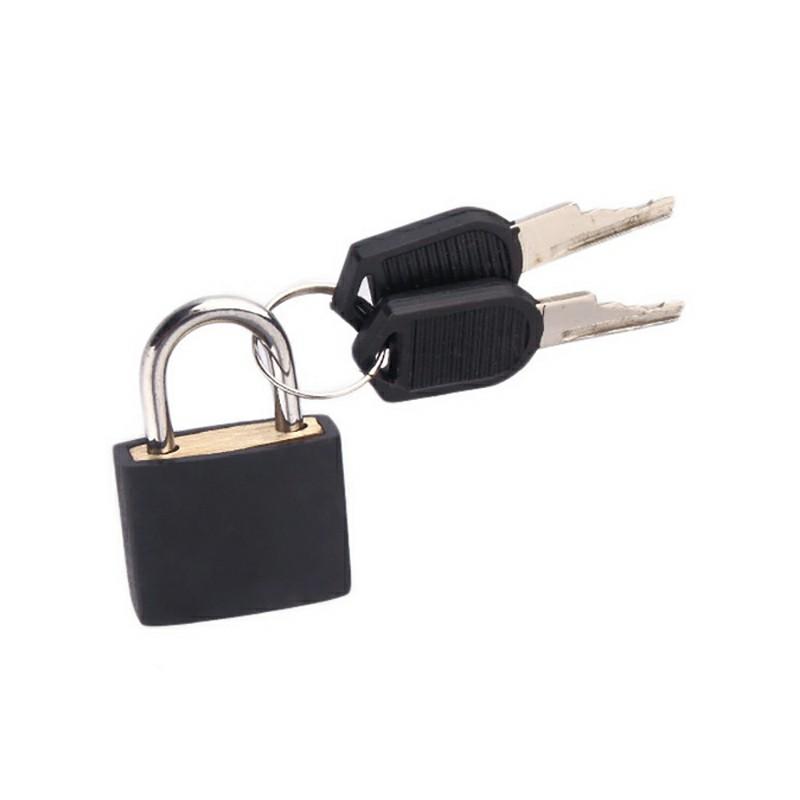 Travel Suitcase Drawer Locks with 2 pcs Keys - Black