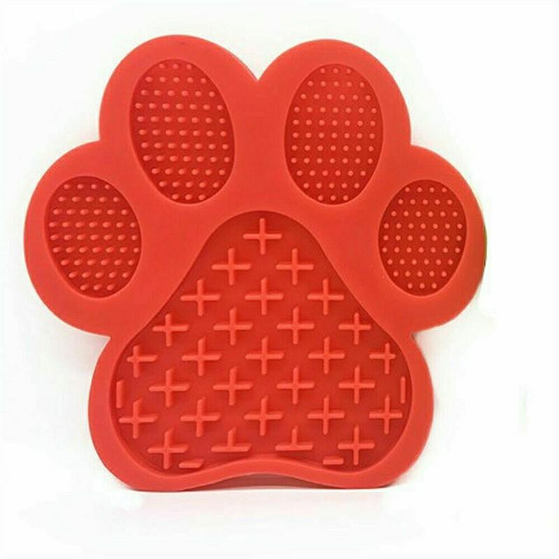 Non-Slip Silicone Dog Lick Pad - Red