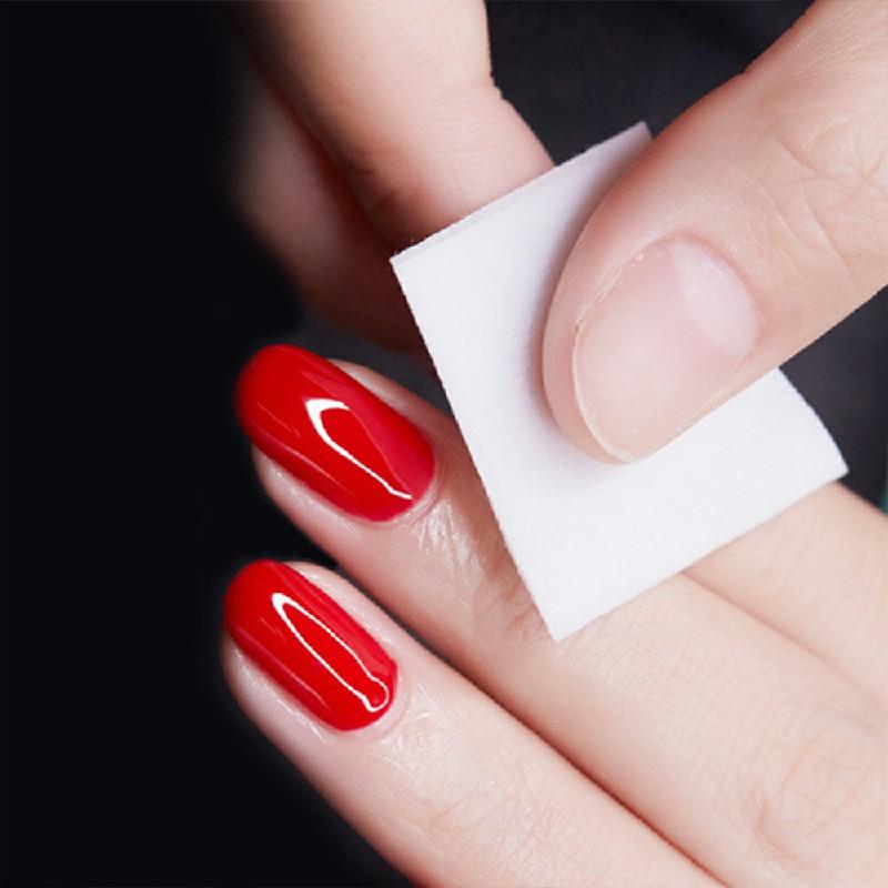Lint Free Cotton Nail Pads UV Gel Remover 500 pcs