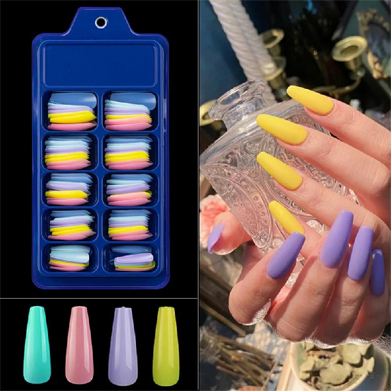 Long Acrylic Artificial False Nail 100 pcs - Combination A